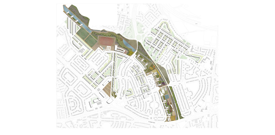 Huyton Masterplan by MBLA Architects + Urbanists
